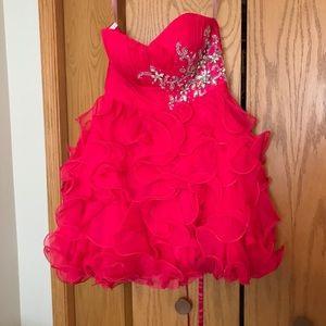 Blush homecoming dress